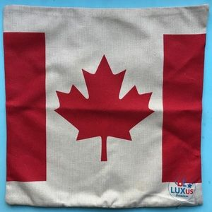 NEW Throw Pillow COVER Canadian Flag Maple Leaf
